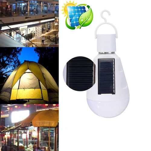 Portable 7W Solar LED Light Bulb Home Emergency Lantern Outdoor Camping Hiking Fishing Light-Sports & Outdoor-SJI Shop