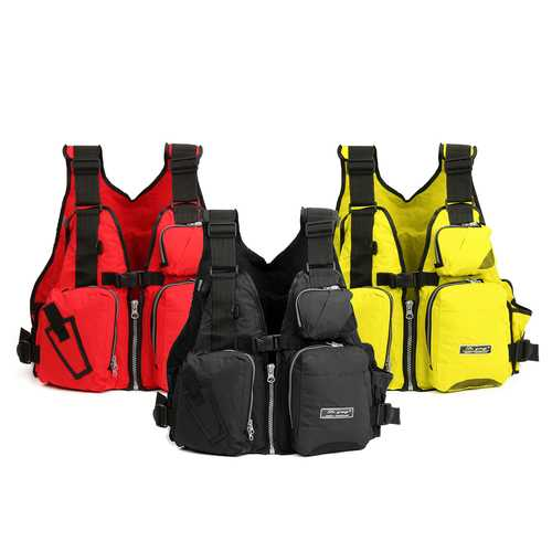 Universal 53x39x20cm Nylon Adult Adjustable Life Jacket Mulltifunctional Fishing Vest Jacket Tackle-Fishing-SJI Shop