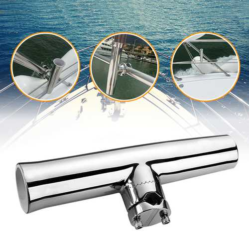 316 Stainless Steel 7/8''-1'' Tube Fishing Rod Holder Boat Tackle Clamp On Rail Mount-Fishing-SJI Shop