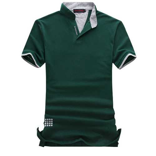 Mens Fashion Color Breathable Short Sleeved Golf Shirt-Men's Clothing-SJI Shop