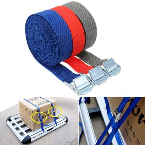 250kg Bearing Polyester Fiber Binding Belt Multifunction Car Travel Fishing Luggage Binding Belt-Sports & Outdoor-SJI Shop