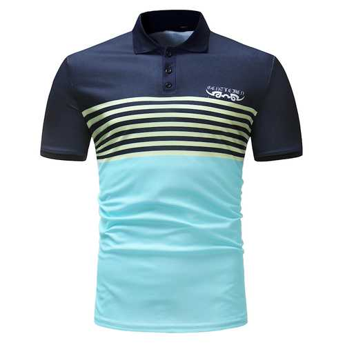 Men's Casual Cotton Breathable Short Sleeve Golf Shirt-Men's Clothing-SJI Shop
