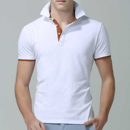 Men's Slim Lapel Golf Shirt-Men's Clothing-SJI Shop
