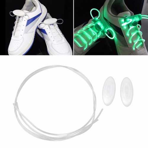 1 Pair LED Bestselling 80CM Flash Luminous Fashionable 6 Color Glass Fiber Shoe Laces for Party Skating Running Disco Light Up Glow Nylon Strap-Party Supplies-SJI Shop
