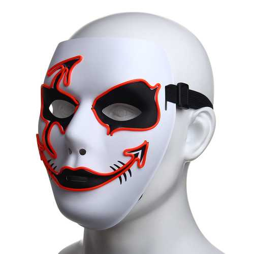 Halloween Mask LED Luminous Flashing Party Masks Light Up Dance Halloween Cosplay-Party Supplies-SJI Shop