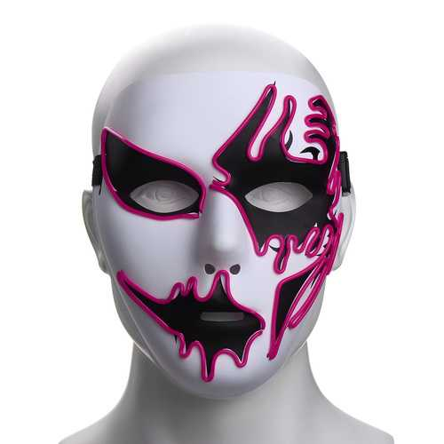Halloween Mask LED Luminous Flashing Party Masks Light Up Dance Halloween Cosplay Props-Party Supplies-SJI Shop