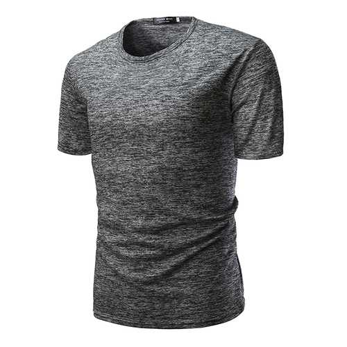 r Mens Cotton Short Sleeve O-neck Slim T-shirts-Men's Clothing-SJI Shop