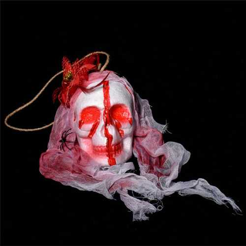 Halloween Decorations Horror Props Horrible Skeleton Bleeding Skull Scary Spooky Hanging Props Party Decor Supplies-Party Supplies-SJI Shop