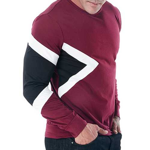 Cotton Three Colors Patchwork Casual T-shirts for Men-Men's Clothing-SJI Shop