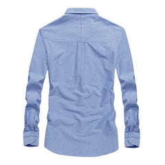 Cotton Comfy Long Sleeve Casual Business Shirts for Men-Men Shirts-SJI Shop