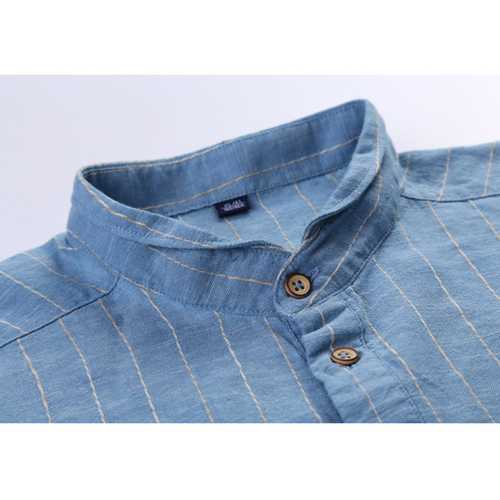 Men's Cotton Linen Vintage Loose Casual T-shirts-Men's Clothing-SJI Shop