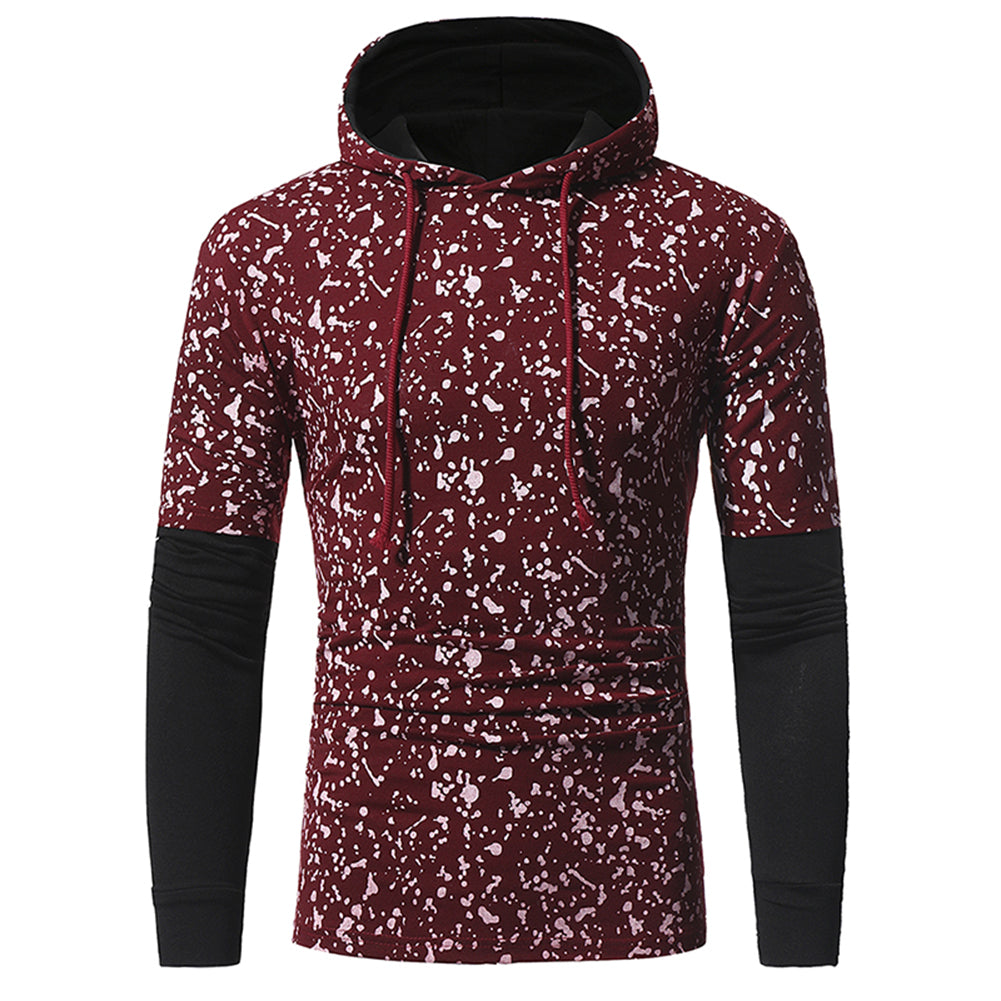 Men's Autumn Winter Deer Printed Fashion Casual Sport Hooded Sweatshirt Hoodie-Hoodies & Sweats-SJI Shop