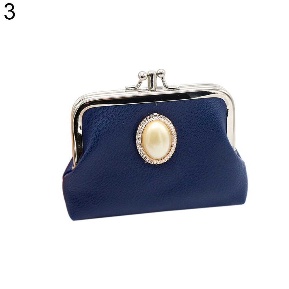 Women Double Layer Faux Leather Mini Handbag Coin Case Card Holder Purse Wallet-Clutch Bags-SJI Shop