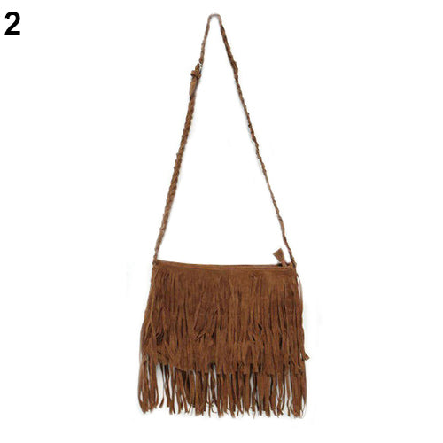 Women Hot Tassel Fringe Cross Body Shoulder Messenger Bag Valentine's Day Gift-Handbags-SJI Shop
