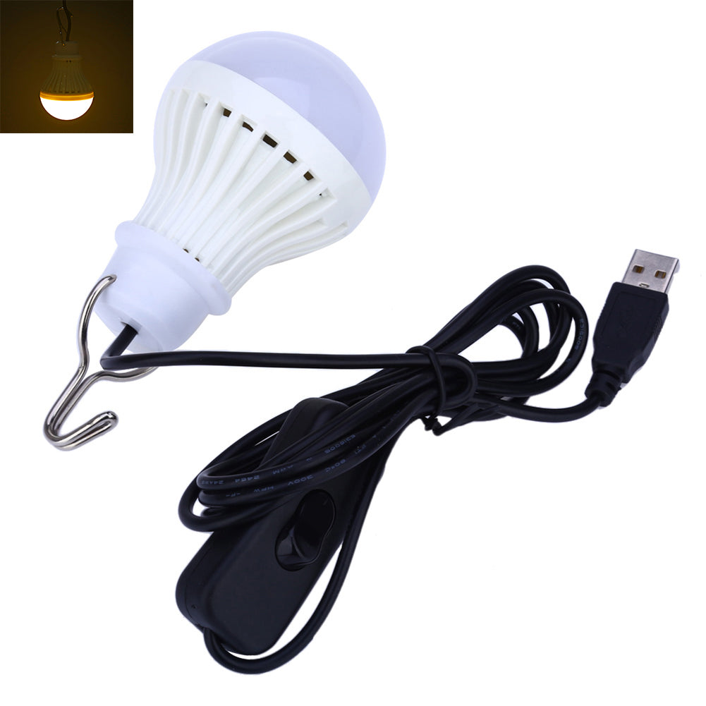 Portable 5W 5V USB LED Light Bulb Home Emergency Outdoor Camping Switch Lamp-Table Lights-SJI Shop