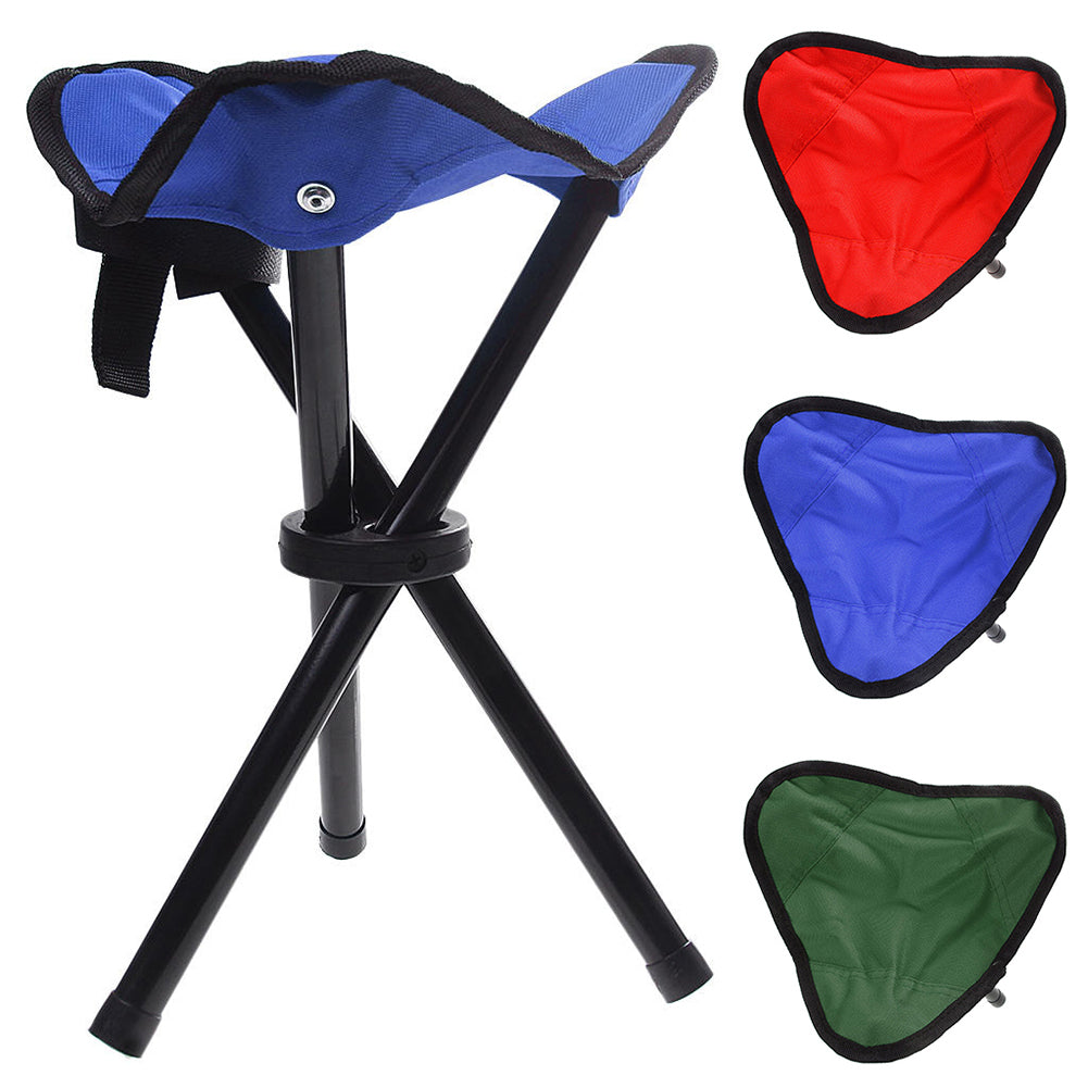 Folding Chair Portable Outdoor Camping Garden Travel Canvas Tripod Stool Chair-Other Fishing Accessories-SJI Shop