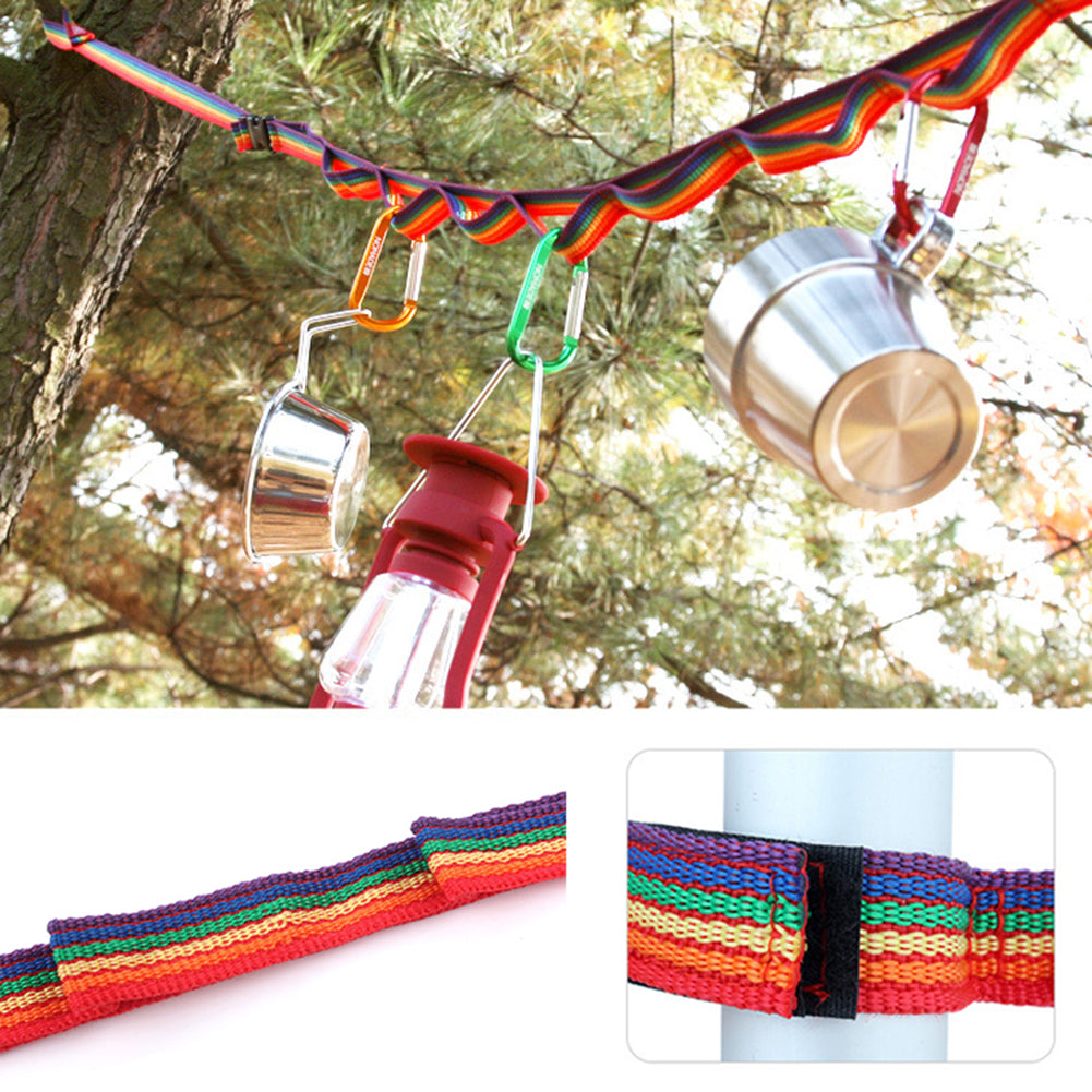 Outdoor Multicolor Clothesline Utensil Holder Nonslip Line Rope for Camping Tool-Other Accessories-SJI Shop