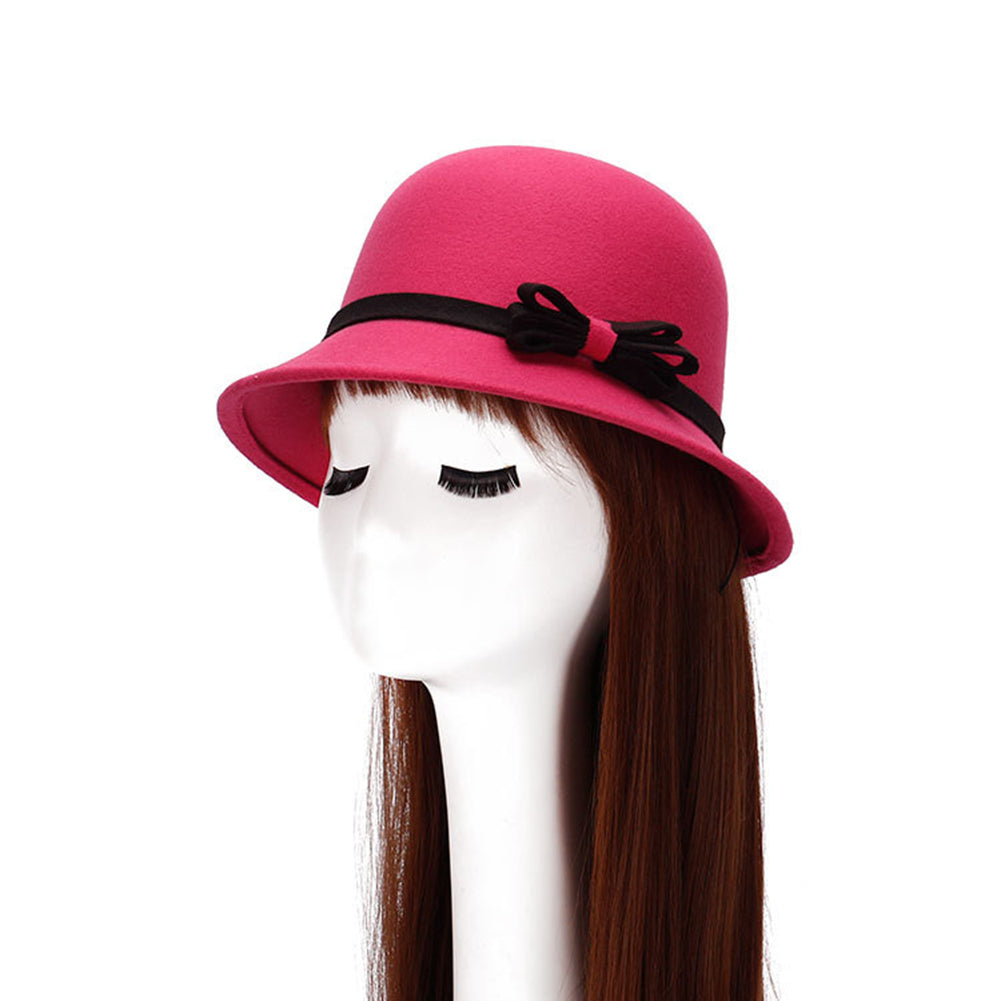 Fashion Women Causual Charm Hat Lady Cocktail Party Decor Bowknot Cap Gift-Hats-SJI Shop