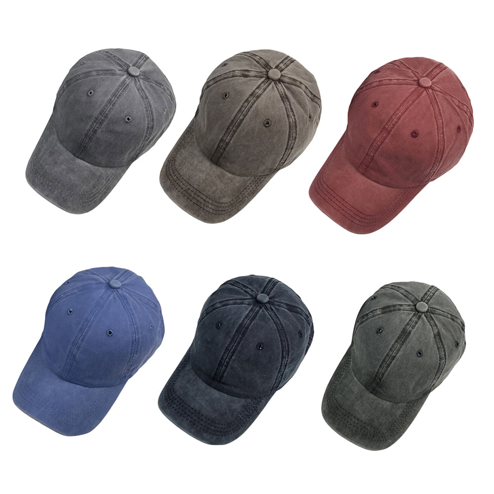 Vintage Adjustable Cotton Baseball Cap Women Men Snapback Sports Hip-Hop Hat-Hats-SJI Shop