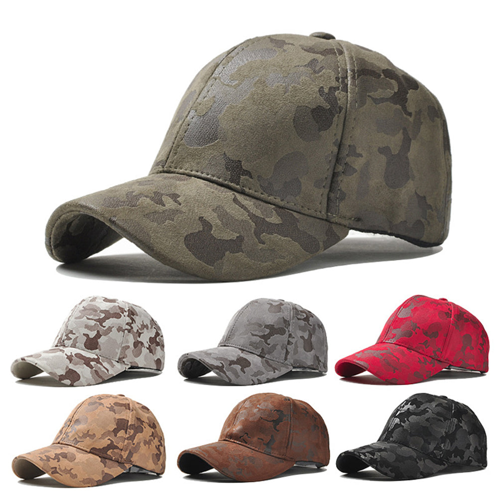 Unisex Peaked Cap Adjustable Snapback Sports Camouflage Visor Baseball Hat-Hats-SJI Shop