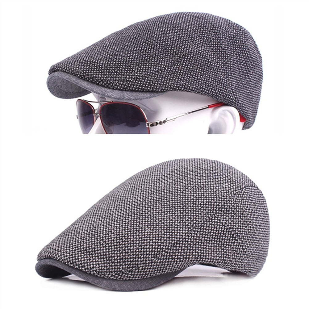 Classic Men Adjustable Cotton Duckbill Flat Peaked Hat Ivy Newsboy Cabbie Cap-Hats-SJI Shop
