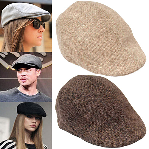 Men Women Fashion Peaked Cap Flat Hat Beret Hats Cabbie Newsboy Country Golf Style-Hats-SJI Shop