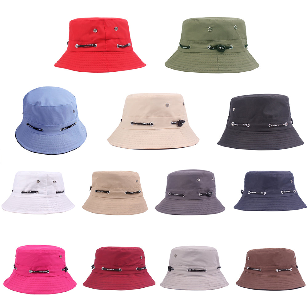 Solid Color Bucket Hat Unisex Outdoor Travel Fishing Men Women Casual Sun Cap-Hats-SJI Shop