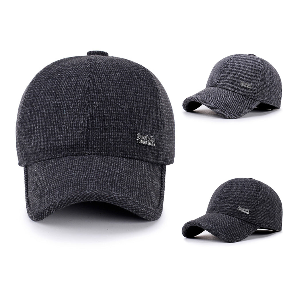 Men Adjustable Hat Snapbacks Winter Ear Flap Baseball Golf Hiking Peaked Cap-Hats-SJI Shop