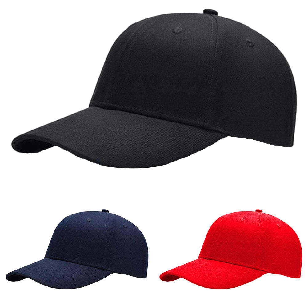 Fashion Men's Women's Solid Color Hip Hop Adjustable Baseball Hat Snapback Cap-Hats-SJI Shop