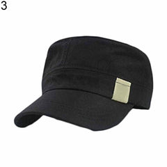 Men Outdoors Combat Field Military Flat Roof Sun Hat Cadet Patrol Bush Hat Cap-Hats-SJI Shop