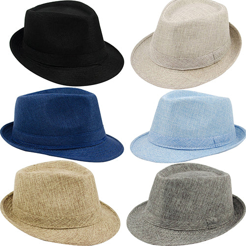 Men's Women's Summer Beach Hat Sun Screen Linen Fedoras Outdoor Travel Hats-Hats-SJI Shop