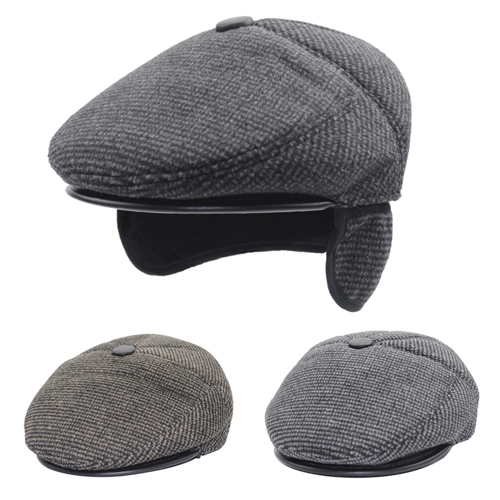 Men Autumn Winter Peaked Cap Warm Sport Countrywear Hunting Travel Hat-Hats-SJI Shop