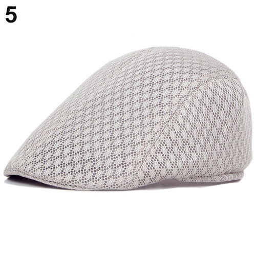 Unisex Fashion Duck Mesh Sun Flat Cap Golf Beret Newsboy Cabbie Baseball Hat-Hats-SJI Shop