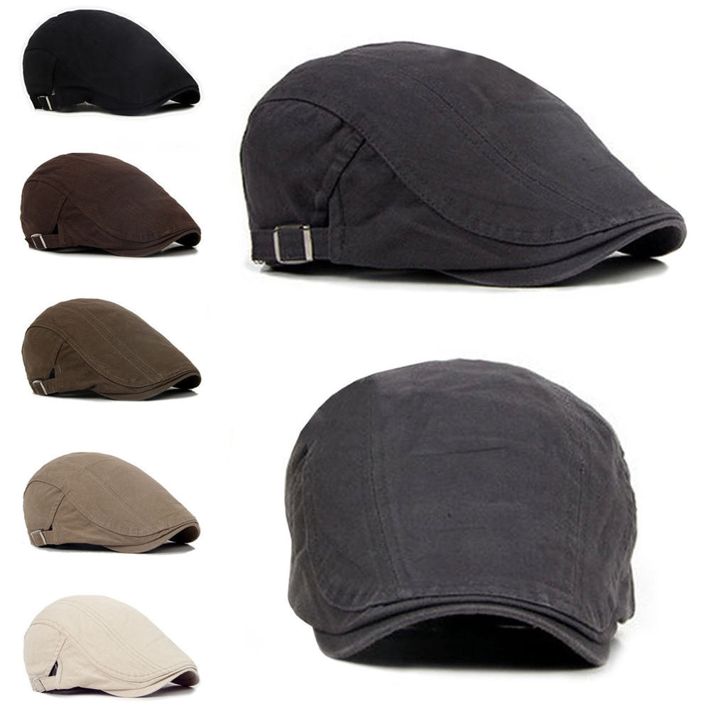 Men's Retro Casual Ivy Hat Summer Winter Golf Newsboy Driving Cabbie Flat Cap-Hats-SJI Shop