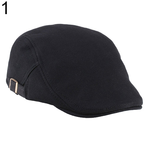 Men Women Duckbill Fashion Classic Beret Cabbie Cowboy Flat Hat Golf Driving Cap-Hats-SJI Shop