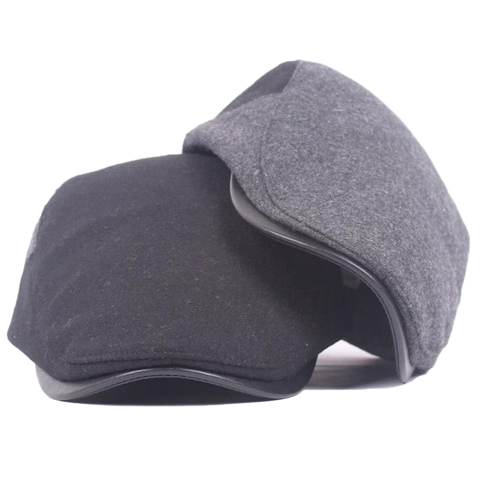 Men Women Fashion Peaked Cap Flat Hat Beret Hats Newsboy Country Warm Golf-Hats-SJI Shop