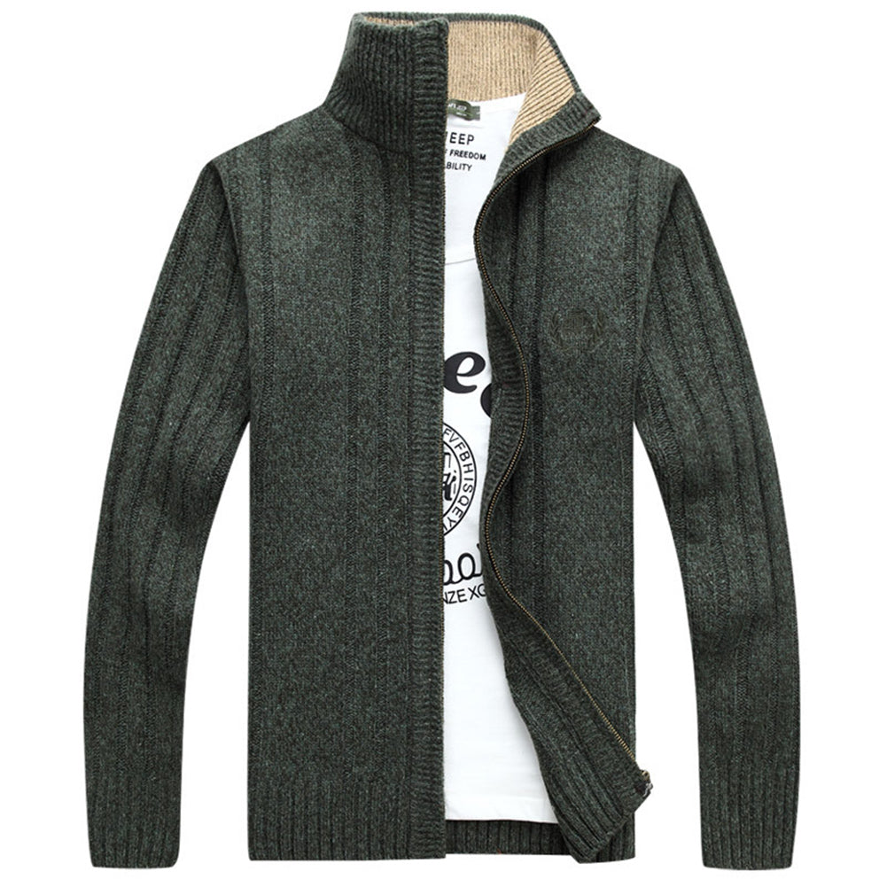 Fashion Men's Knitted Sweater Cardigan Casual Slim Fit Knitwear Coat Jacket Top-Jackets-SJI Shop