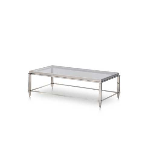 "18"" Steel and Glass Coffee Table"