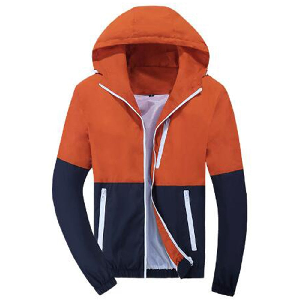 Patchwork Hoodies Men Zipper Sweatshirts Windbreaker Autumn Spring Sportswear Slim Male Hip Hop Tracksuit