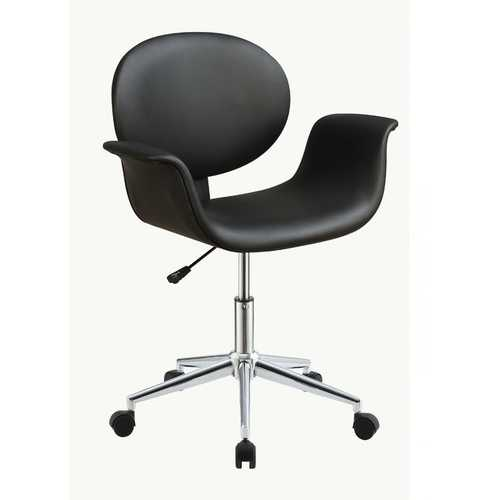 "27"" X 24"" X 34"" Black Pu Office Chair"