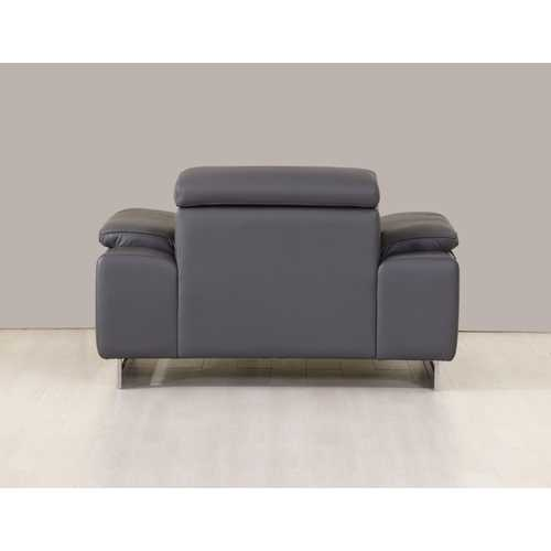 "31"" Dark Grey Tasteful Leather Chair"