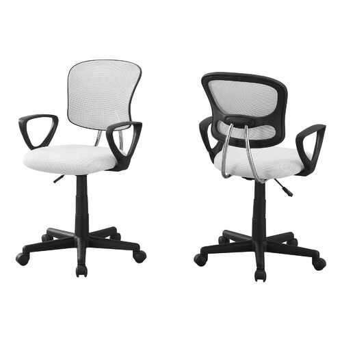 "21.5"" x 23"" x 33"" White Foam Metal Polypropylene Polyester  Office Chair"