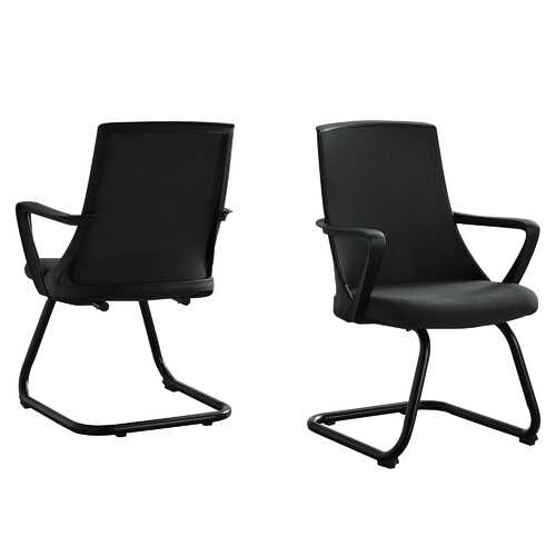"21"" X 21"" X 35"" Black Mesh and Mid Back Office Chair - Set of 2"
