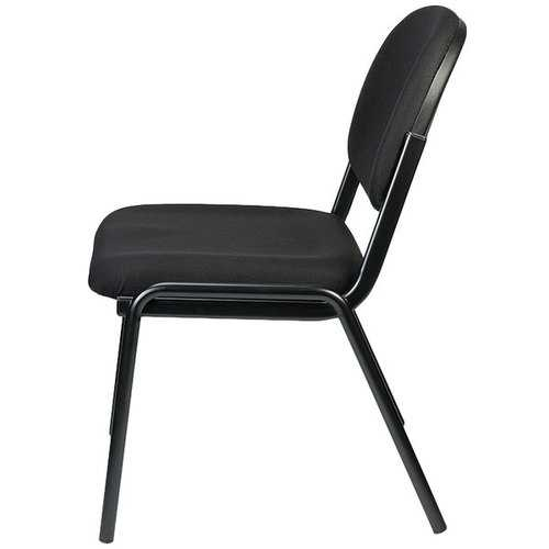 "19.3"" x 18.5"" x 31"" Black Fabric Guest Chair"