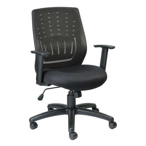 "26.6"" x 24.2"" x 37"" Black  Mesh   Fabric Chair"