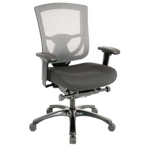 "27.2"" x 25.6"" x 39.8"" Grey Mesh / Fabric Chair"