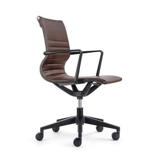 "23.8"" x 20.8"" x 35.8"" Brown Vinyl Felx Tilt Chair"