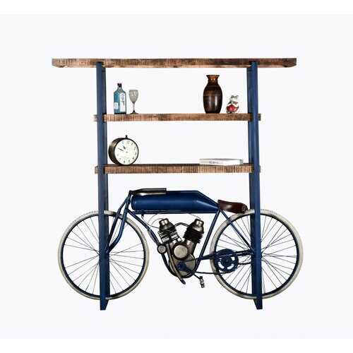 "14"" X 72"" X 72"" Blue Cycle Bookshelf"