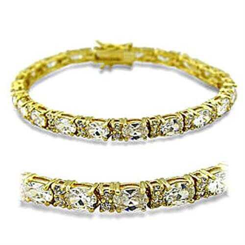 415502 - Brass Bracelet Gold Women AAA Grade CZ Clear