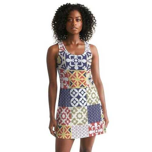 Pop Print  Womens Racerback Dress